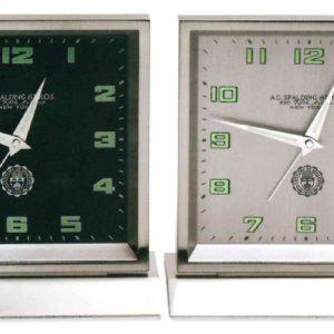 orologio da tavolo modello square con quadrante bianco e nero spalding & bros
