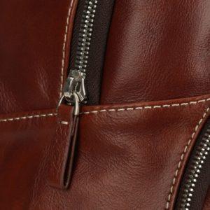 dettaglio zip zaino cutler marrone